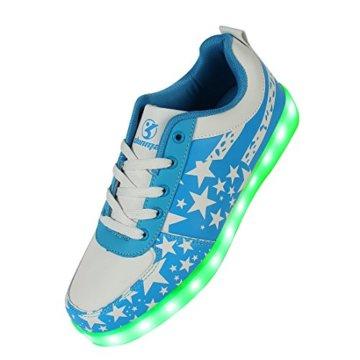 Shinmax Blue Star Pattern LED Schuhe 7 Farben USB-Lade Schuhe Leuchtschuhe Sneakers für Männer und Frauen zum Valentinstag Weihnachten Halloween mit CE-Zertifikat - 1
