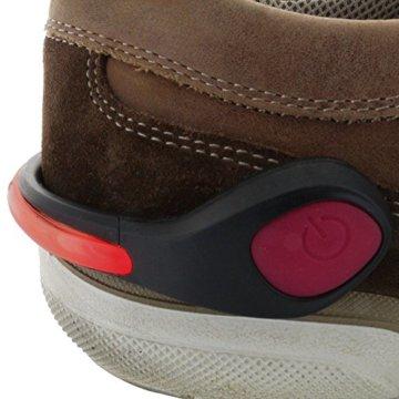 Smart-Planet® LED Schuhclip rot / Reflektor LED / Schuhlicht Leuchte in rot für Schuhe - Für Ihre Sicherheit und Ihrer Kinder im Straßenverkehr Joggen , Radfahren , auf dem Schulweg - Schuhclip mit rotem LED Licht - 2