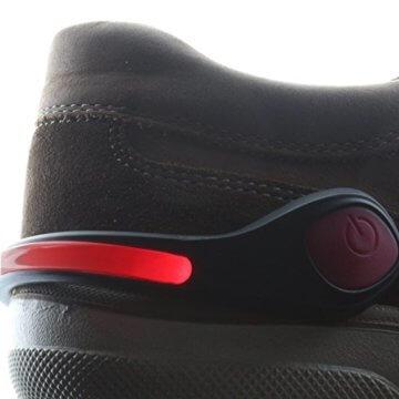Smart-Planet® LED Schuhclip rot / Reflektor LED / Schuhlicht Leuchte in rot für Schuhe - Für Ihre Sicherheit und Ihrer Kinder im Straßenverkehr Joggen , Radfahren , auf dem Schulweg - Schuhclip mit rotem LED Licht - 4