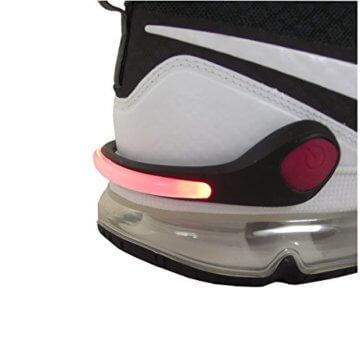 Smart-Planet® LED Schuhclip rot / Reflektor LED / Schuhlicht Leuchte in rot für Schuhe - Für Ihre Sicherheit und Ihrer Kinder im Straßenverkehr Joggen , Radfahren , auf dem Schulweg - Schuhclip mit rotem LED Licht - 1