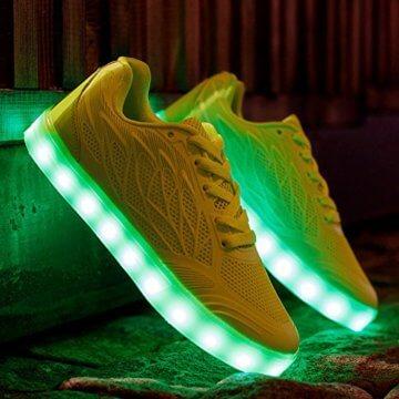 Speedeve 7 Farbe USB Aufladen LED Leuchtend Leuchtschuhe Sport Schuhe Sportschuhe Sneaker Turnschuhe für Damen - 2