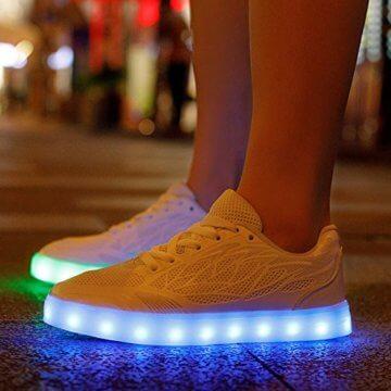Speedeve 7 Farbe USB Aufladen LED Leuchtend Leuchtschuhe Sport Schuhe Sportschuhe Sneaker Turnschuhe für Damen - 3