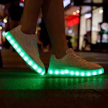 Speedeve 7 Farbe USB Aufladen LED Leuchtend Leuchtschuhe Sport Schuhe Sportschuhe Sneaker Turnschuhe für Damen - 5