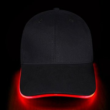 LED Kappe Base cap Schildmütze Einstellbarer Hut Baseball Blitz Käppi mit LEDs Blinkt für Party Club Bar Sportlich Reise Tour Sport Golf Hip-Hop LED-beleuchtet,LED-Taschenlampen Hüt - 3