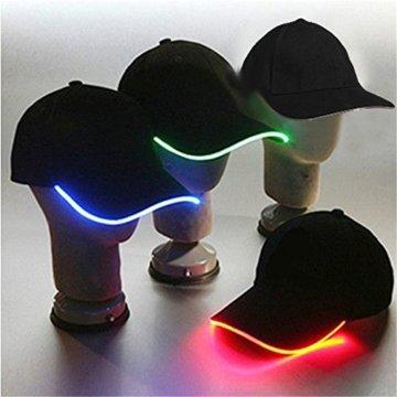 LED Kappe Base cap Schildmütze Einstellbarer Hut Baseball Blitz Käppi mit LEDs Blinkt für Party Club Bar Sportlich Reise Tour Sport Golf Hip-Hop LED-beleuchtet,LED-Taschenlampen Hüt - 1