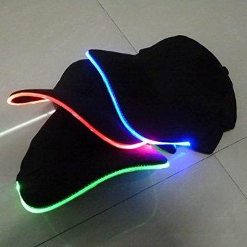 LED Kappe Base cap Schildmütze Einstellbarer Hut Baseball Blitz Käppi mit LEDs Blinkt für Party Club Bar Sportlich Reise Tour Sport Golf Hip-Hop LED-beleuchtet,LED-Taschenlampen Hüt - 5