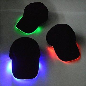 LED Kappe Base cap Schildmütze Einstellbarer Hut Baseball Blitz Käppi mit LEDs Blinkt für Party Club Bar Sportlich Reise Tour Sport Golf Hip-Hop LED-beleuchtet,LED-Taschenlampen Hüt - 7