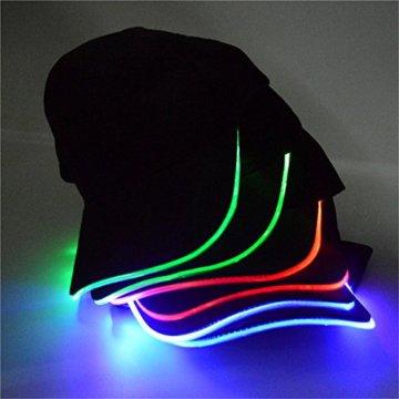 LED Kappe Base cap Schildmütze Einstellbarer Hut Baseball Blitz Käppi mit LEDs Blinkt für Party Club Bar Sportlich Reise Tour Sport Golf Hip-Hop LED-beleuchtet,LED-Taschenlampen Hüt - 8