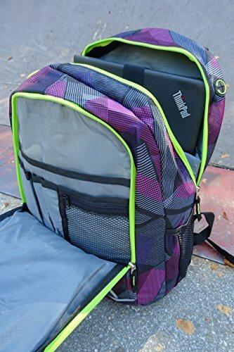 Schildkröt Funsports Wheel Bee Backpack mit Innovative Integriertem LED Licht Sowie Zusätzliche Reflektorstreifen Rucksack, Purple, 48 x 33 x 34 cm - 3