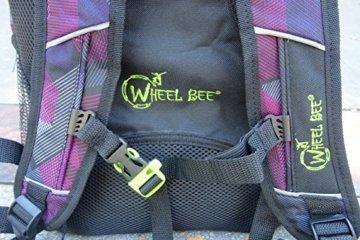 Schildkröt Funsports Wheel Bee Backpack mit Innovative Integriertem LED Licht Sowie Zusätzliche Reflektorstreifen Rucksack, Purple, 48 x 33 x 34 cm - 4