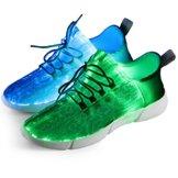 Fiber Optical Schuhe,LED Schuhe 7 Farben 4 Mods USB Wiederaufladbare Leuchten Schuhe Super Lightweight LED Sneaker für Männer und Frauen - 1