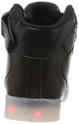 FLARUT Hoch Oben USB Aufladen LED Leuchtend Leuchtschuhe Blinkschuhe Sport Schuhe für Jungen Mädchen Kinder(37 EU,Schwarz) - 2