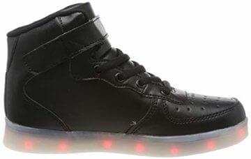 FLARUT Hoch Oben USB Aufladen LED Leuchtend Leuchtschuhe Blinkschuhe Sport Schuhe für Jungen Mädchen Kinder(37 EU,Schwarz) - 6