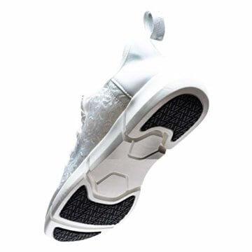 LED Laufschuhe Atmungsaktive Fabric Nacht Sportschuhe 7 Farben Leuchtende Schuhe Damen Herren mit USB Ladegerät Weiß 42 EU - 3