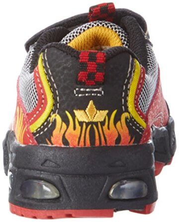 Lico Hot V Blinky, Jungen Sneakers, Mehrfarbig (rot/schwarz/gelb), 30 EU - 2