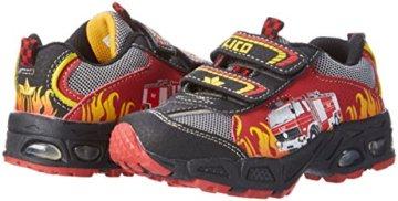 Lico Hot V Blinky, Jungen Sneakers, Mehrfarbig (rot/schwarz/gelb), 30 EU - 5