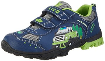 Lico Jungen MONSTERTRUCK V Blink Low-Top, Blau (Marine/Lemon), 27 EU - 1