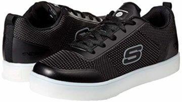 Skechers Jungen Energy Lights - Circulux Sneaker, Schwarz (Black Blk), 36 EU - 6