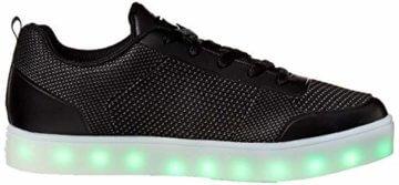 Skechers Jungen Energy Lights - Circulux Sneaker, Schwarz (Black Blk), 36 EU - 8
