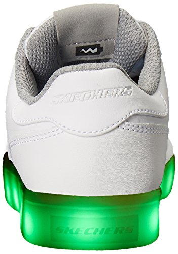 Skechers Jungen Energy Lights Elate Sneaker, Weiß (White), 38 EU - 2