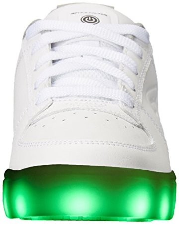 Skechers Jungen Energy Lights Elate Sneaker, Weiß (White), 38 EU - 4