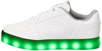 Skechers Jungen Energy Lights Elate Sneaker, Weiß (White), 38 EU - 5