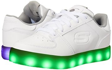 Skechers Jungen Energy Lights Elate Sneaker, Weiß (White), 38 EU - 6