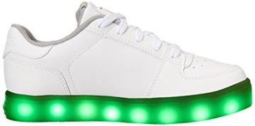 Skechers Jungen Energy Lights Elate Sneaker, Weiß (White), 38 EU - 7