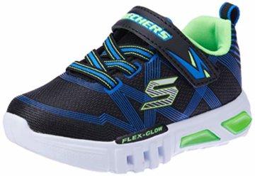 Skechers Jungen Flex-Glow-90542L Sneaker, Schwarz (Black Blue Lime Bblm), 29 EU - 1