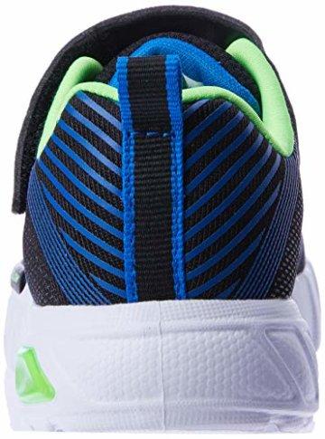 Skechers Jungen Flex-Glow-90542L Sneaker, Schwarz (Black Blue Lime Bblm), 29 EU - 2