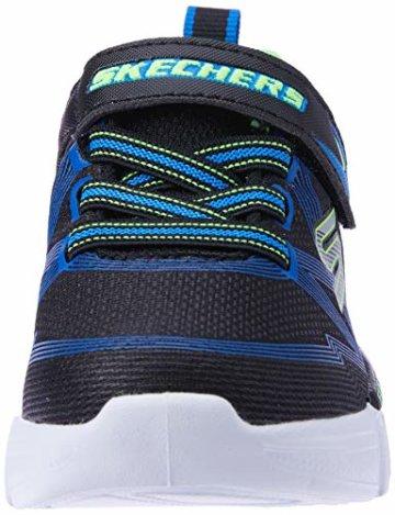 Skechers Jungen Flex-Glow-90542L Sneaker, Schwarz (Black Blue Lime Bblm), 29 EU - 4