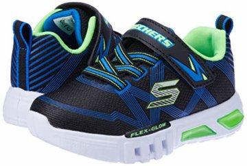 Skechers Jungen Flex-Glow-90542L Sneaker, Schwarz (Black Blue Lime Bblm), 29 EU - 5