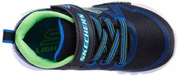 Skechers Jungen Flex-Glow-90542L Sneaker, Schwarz (Black Blue Lime Bblm), 29 EU - 7