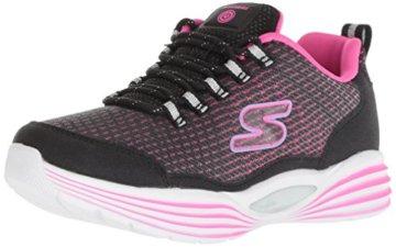 Skechers Mädchen Luminators Luxe Sneaker, Schwarz (Black/Pink Bkpk), 37 EU - 1