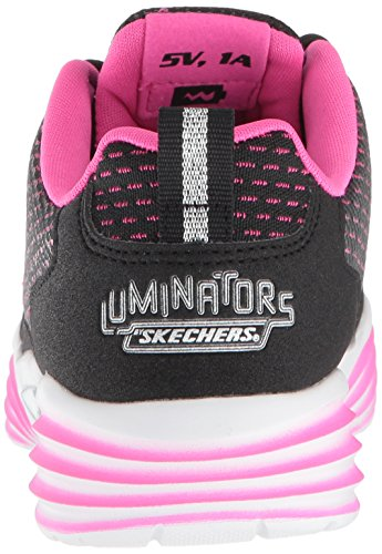 Skechers Mädchen Luminators Luxe Sneaker, Schwarz (Black/Pink Bkpk), 37 EU - 2
