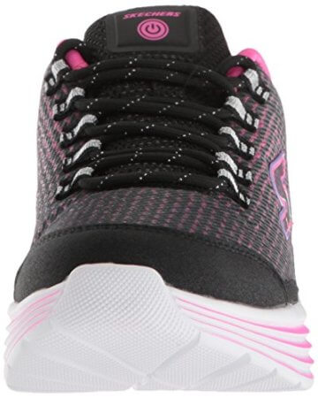 Skechers Mädchen Luminators Luxe Sneaker, Schwarz (Black/Pink Bkpk), 37 EU - 4