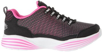 Skechers Mädchen Luminators Luxe Sneaker, Schwarz (Black/Pink Bkpk), 37 EU - 7