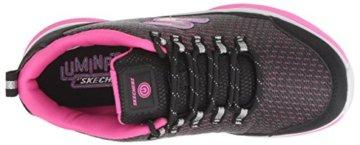 Skechers Mädchen Luminators Luxe Sneaker, Schwarz (Black/Pink Bkpk), 37 EU - 8